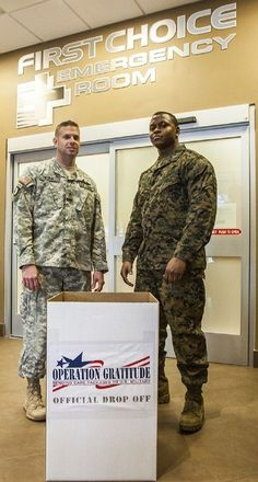 First Choice Emergency Room is partnering with Operation Gratitude to host a spring collection drive between March 20 and April 4 to support active duty military and veteran communities.