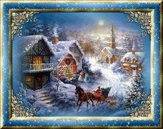 Joulukuvat | Animaatiokuvia | joulumaisema