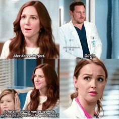 "greys anatomy : Remember when these two were an ""item?She became Syph nurse and he became a good guy. Greys Anatomy Funny, Greys Anatomy Season, Greys Anatomy Cast, Grey Anatomy Quotes, Anatomy Humor, Greys Anatomy Scrubs, Derek Shepherd, Opposite Of Dark, Meredith And Christina"