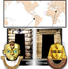 The ancient Egyptians (in Africa) and the ancient pre-Incas/Incas (in South America) evolved on opposite sides of the globe and were never i...
