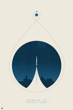 Minimalist poster for the Apollo 13 missions : graphic_design Graphic Design Posters, Graphic Design Typography, Graphic Design Inspiration, Graphic Art, Daily Inspiration, Graphisches Design, Layout Design, Print Design, Shape Design