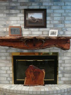 Nave's Sawmill & Woodworks is a husband and wife team that specalizes in Mesquite wood. - Fireplace Mantles