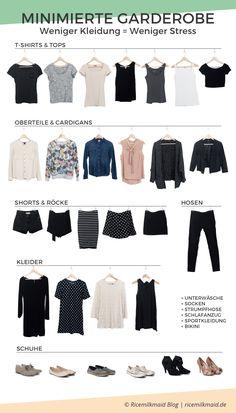 Fresh Minimalistische Garderobe Kleiderschrank effektiv ausmisten