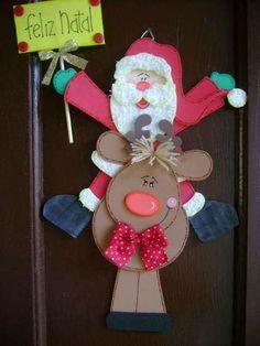 Papa Noel con Reno (aporte: