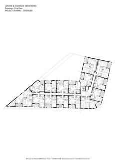 Image 11 of 12 from gallery of Sierra Residence / Lanoire & Courrian. First Floor Plan Hotel Architecture, Floor Plans, How To Plan, Gallery, House, Building, Ideas, Architecture, Roof Rack