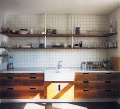 verhext:    slab drawers, farmhouse sink. in wee scale for the cabin?