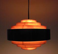 Jo Hammerborg, Ultra Ceiling Pendant  in Copper for Fog  Morup, 1960s.