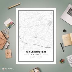 A map poster from Mapiful.com. A creative DIY tool to make your own map poster. This is 'Walshoutem'