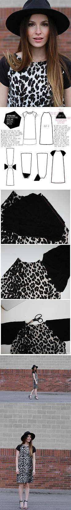 Another dress neumeyuschih stitching (Diy) / Simple patterns /