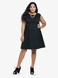 TORRID.COM - Brocade Sleeveless Dress