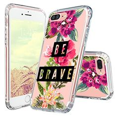 MOSNOVO iPhone 8 Plus Case, iPhone 7 Plus Case, Choose Happy Quotes Pattern Printed Clear Design Transparent Plastic Hard Back Case with TPU Bumper Case Cover for iPhone 7 Plus iPhone 8 Plus Pretty Iphone 7 Cases, Iphone Cases For Girls, Girly Phone Cases, Iphone 7 Plus Cases, Iphone 8, Iphone 7 Covers, Iphone Phone Cases, Apple Iphone, Ipad
