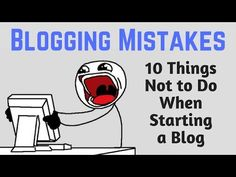 Blogging Mistakes: 10 Things Not To Do When Starting a Blog http://onlinesuccessrightnow.blogspot.com/2017/05/blogging-mistakes-10-things-not-to-do.html?utm_campaign=crowdfire&utm_content=crowdfire&utm_medium=social&utm_source=pinterest