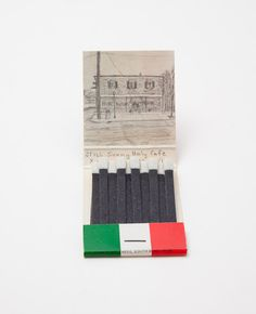 A Nice Place To Eat by xacharles on Etsy, $22.00 Clever draws what is in the present location of vintage addresses on match book covers!