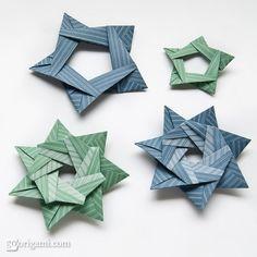 star origami | Origami Stars from Silver Rectangles by Maria Sinayskaya | Go Origami!