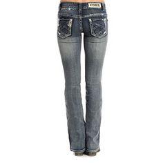 Rock & Roll Cowgirl Women's Original Low-Rise Boot Cut Jeans