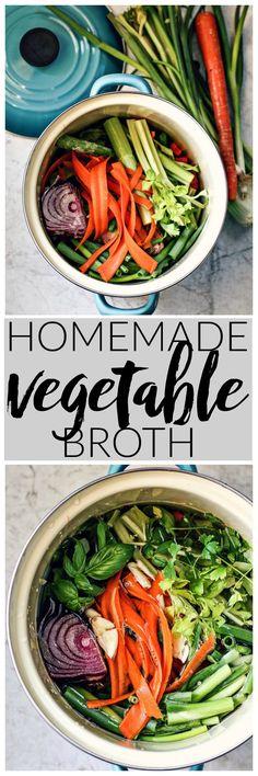 Homemade Vegetable Broth | Killing Thyme