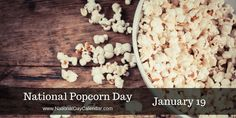 #NationalPopcornDay is the day that started it all here at National Day Calendar... Today is our 4th Anniversay of doing our part to #CelebrateEveryday So, let's all enjoy today, eat lots of popcorn while sharing with everyone we know.