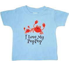 8c62da8aa Inktastic I Love My PopPop Grandchild Baby T-Shirt Gift From Childs  Grandson Pop #