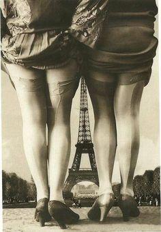 1920's French Postcard--L'esprit swing's