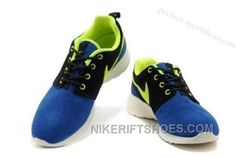 huge selection of a43ef 39719 Cheap Hot Sell Online Popular Nike Roshe Run Womens Shoes For Sale White  Blue Yellow Discount