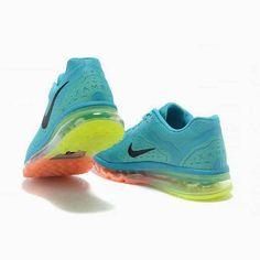 Newest Nike Air Max+ 2014 Running shoe Unisex Blue Black Orange