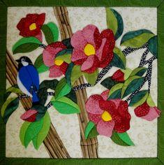 Caixa Pássaro com Flores 30x30