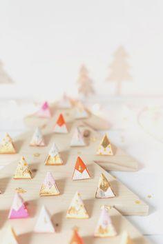 wooden tree advent calendar...