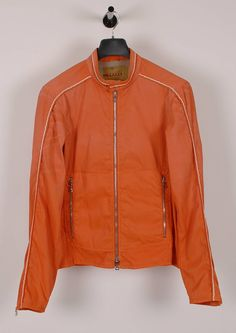 Prada Original Prada Orange Men Bomber Jacket in size 50 Size US M / EU 48-50 / 2