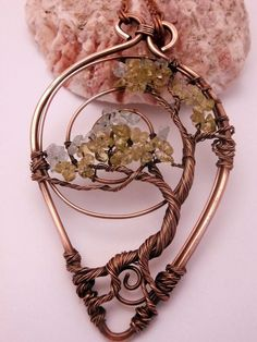Another perfect tree of life wire wrap pendant by perfectly twisted jewellery