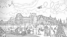 Secret PARIS Colouring Book