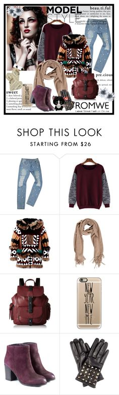 """sweatshirts from Romwe"" by sorevgen-1 ❤ liked on Polyvore featuring Dsquared2, Kenneth Cole Reaction, Casetify, Valentino and romwe"