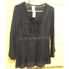 Navy stylish blouse New Tops Blouses
