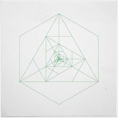 #243 Antenna – A new minimal geometric composition each day / Sacred Geometry <3