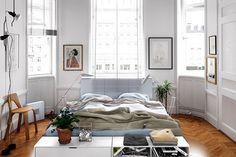 dormitorio con diseo escandinavo muy bonito