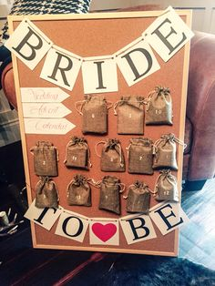 Wedding advent calendar that I made for the bride, so pleased with how it turned out