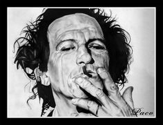 Portrait de Keith Richards par Paco illustrateur, graphiste