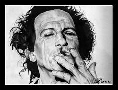 Portrait de Keith Richards par Paco illustrateur, graphiste