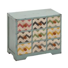 Contemporary Styled Jewelry Chest Table
