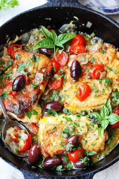 Pan Fried Haddock Mediterranean Style – Eating European Pan Fried Haddock Mediterranean Style with white wine, cherry tomatoes, kalamata olives and tangy capers is very easy but very flavorful dish that can be ready in 20 minutes Mediterranean Fish Recipe, Mediterranean Dishes, Mediterranean Style, Seafood Dishes, Seafood Recipes, Cooking Recipes, Healthy Recipes, Healthy Food, Baked Haddock Recipes