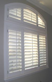Arched Eyebrow Windows Are No Problem For Plantation Shutters Window Coverings Blinds