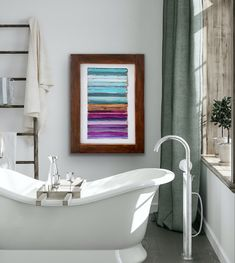 Original Artwork, Original Paintings, Ocean Sounds, Thing 1, Small Paintings, Popular Paintings, Turquoise, Bathroom Wall Decor, Ocean Art
