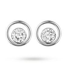 9ct Gold 0.40ct Floating Diamond Earrings