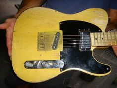 'Micawber' is probably one of Keith Richards most famous trademark guitars.It is a 1953 Fender Telecaster Blonde. Micawber is named after a Charles Dickens character, no one is exactly sure why. Keith's had this guitar since Exile On Main St. This guitar is kept in Open G tuning (G,D,G,B,D) low to high with no capo, and of course has the famous 5 strings with the 6th string removed (as do all his open G tuned guitars).