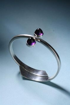 Bracelet   Hans Hansen (Denmark)   Sterling silver and amethysts   1950s