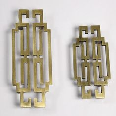 Pair Of Chinese Style Antique Symmetry Pulls Knobs/Drawer Handles/Antique  Brass Kitchen Cabinet