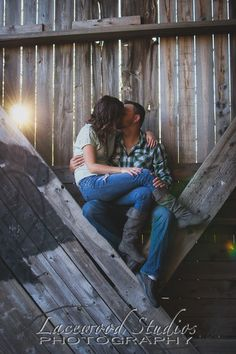 Covered Bridge in the Fall Engagement portrait photography sun set
