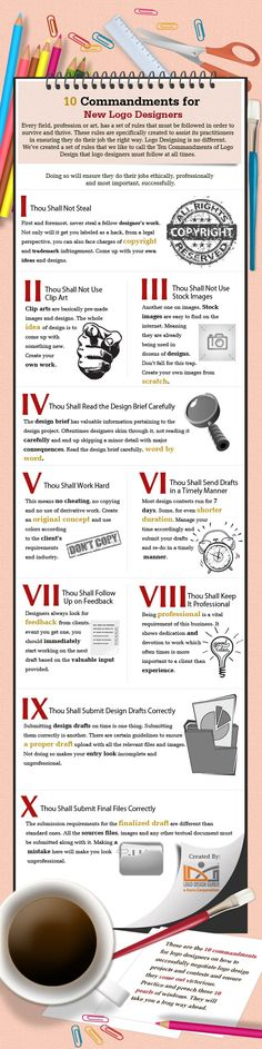 10 commandments for new logo designers #infographic