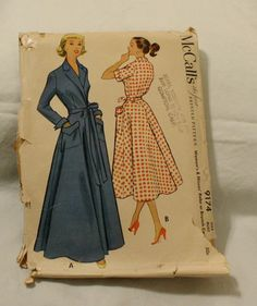 McCall 9174 Vintage 1950s Dress or Robe by EleanorMeriwether, $8.00