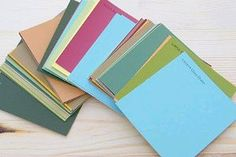 paint chip cards - Google Search