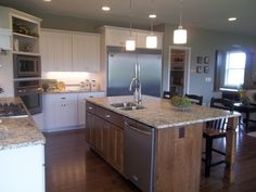 Huge kitchen island, placement of appliances